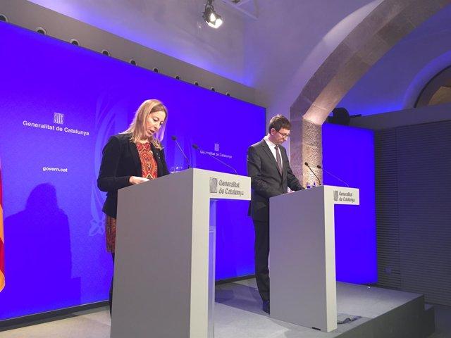La consellera de Presidencia Neus Munté y el conseller de Justicia Carles Mundó