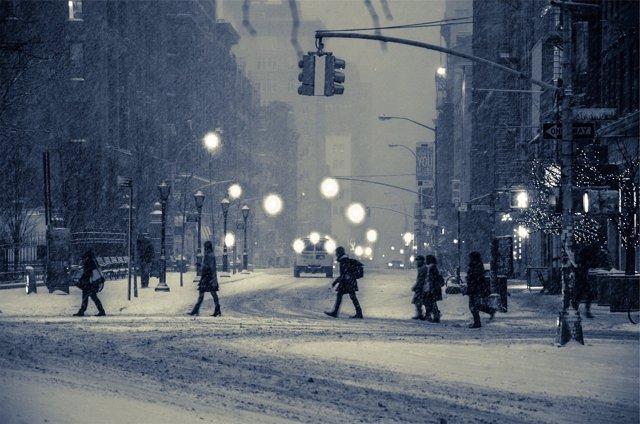 Nieve, ciudad nevada