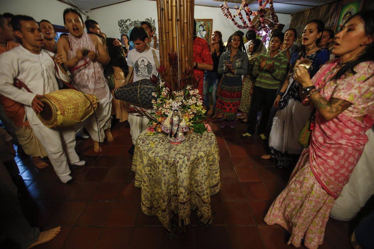 Comunidad Hare Krishna en Bogotá