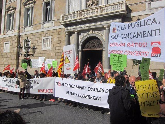 Manifestación del Muce por la educación pública