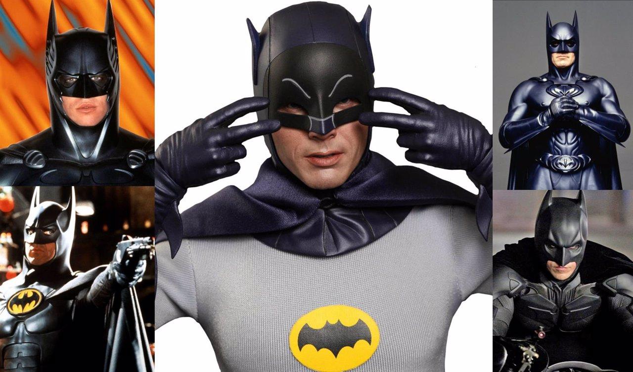 Collage con los actores que han interpretado a Batman