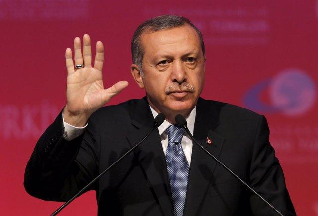 Erdogan, Presidente de Rukía