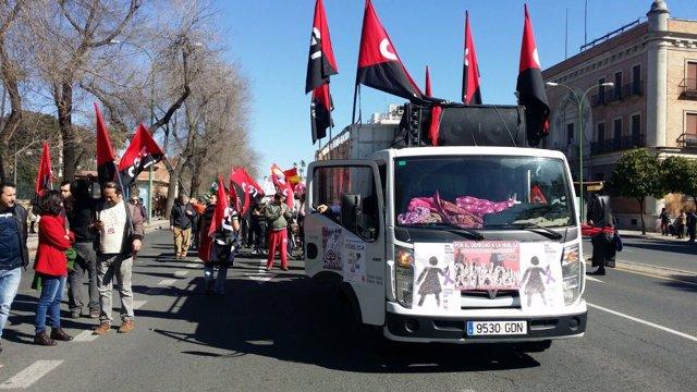 Manifestación de los sindicatos el 28F contra la precariedad laboral