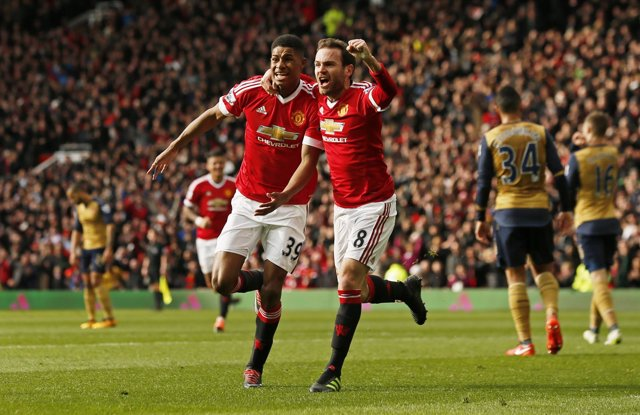 Manchester United Arsenal Juan Mata Marcus Rashford