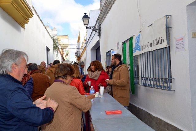 Desayuno andaluz de la Peña los Panaderos de Puerto Real