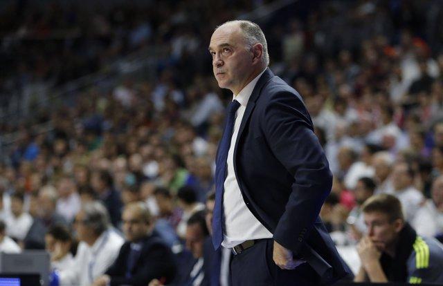 PABLO LASO ENTRENADOR, LIGA ACB ENDESA REAL MADRID - VALENCIA BASKET