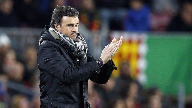 El técnico del FC Barcelona, Luis Enrique Martínez
