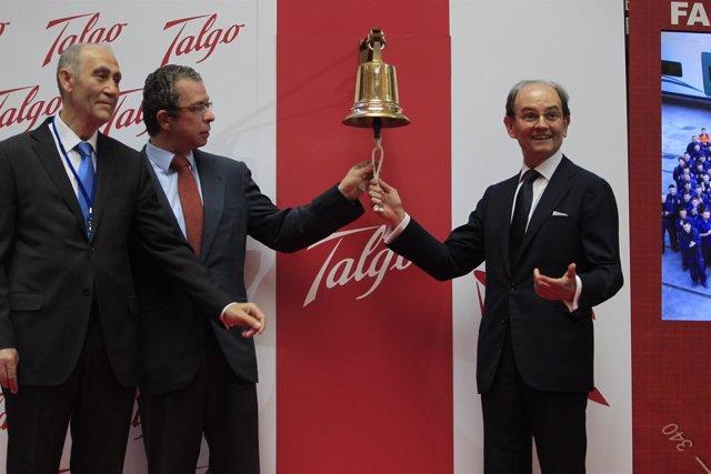 José María Oriol y Carlos Palacio en la salida a bolsa de TALGO