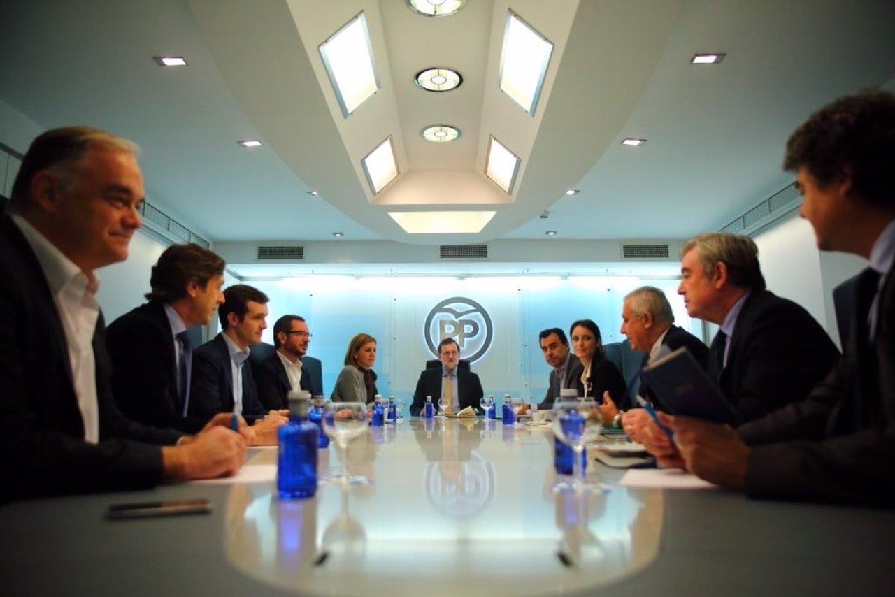 PP, Comité de dirección, Rajoy, Cospedal, Casado, Arenas, Levy