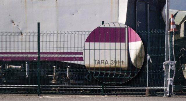 Captura del tren que descarriló en Angrois