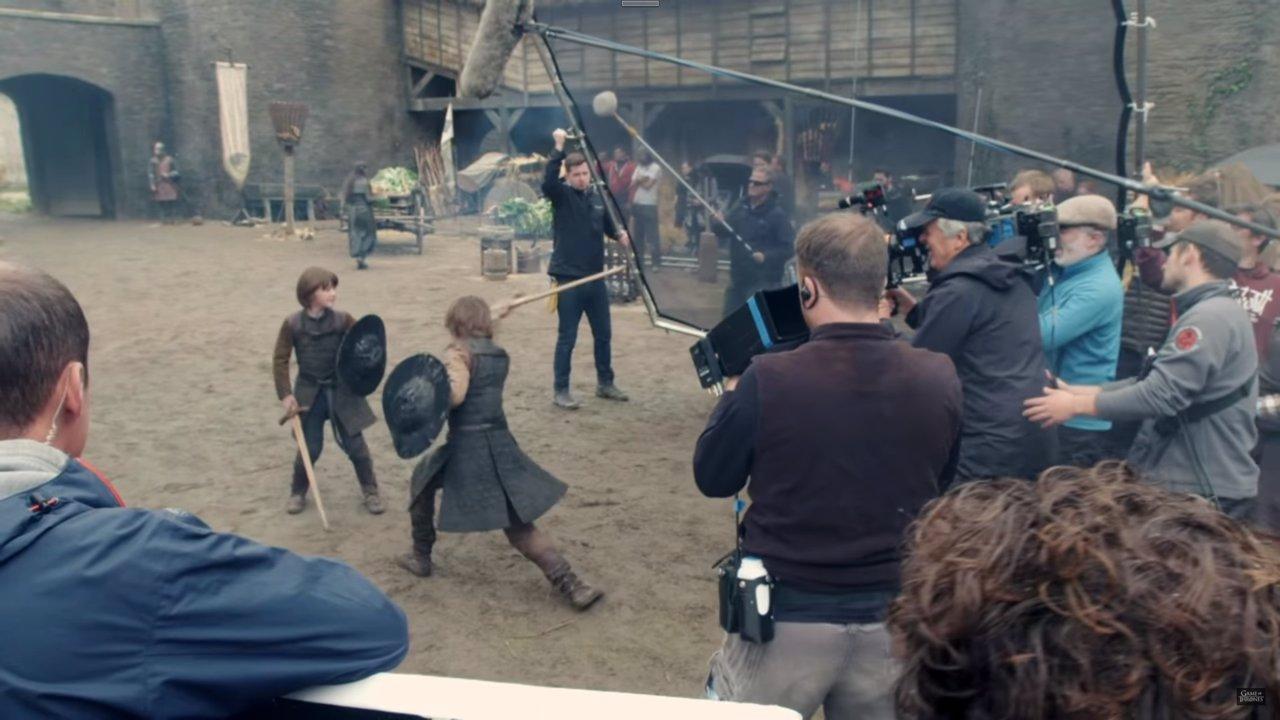 Ned Stark y Robert Baratheon en Juego de tronos