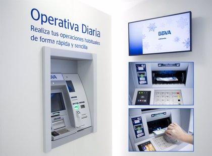 BBVA renueva su red de cajeros para facilitar su liquidez