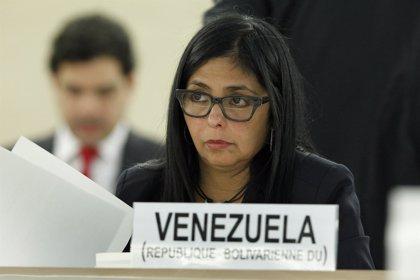 """Rodríguez denuncia ante la ONU un """"bullying de la derecha internacional"""" contra Venezuela"""