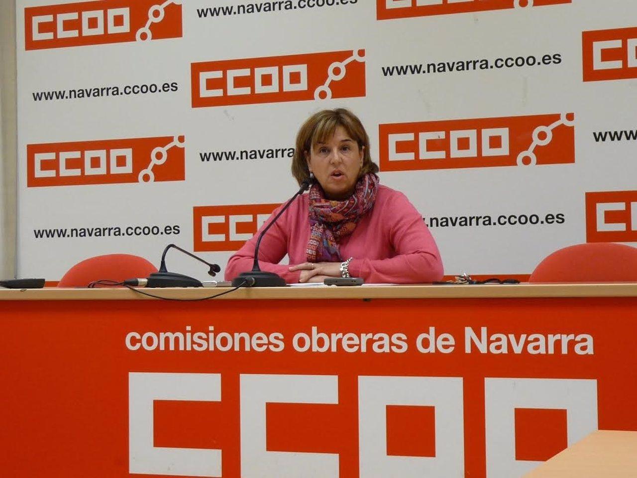La responsable de Igualdad de CCOO de Navarra, Pilar Arriaga.