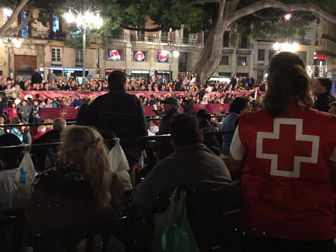 Cruz Roja en Málaga durante Seman Santa