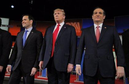 Cruz y Rubio centran sus ataques contra Trump en un nuevo debate republicano