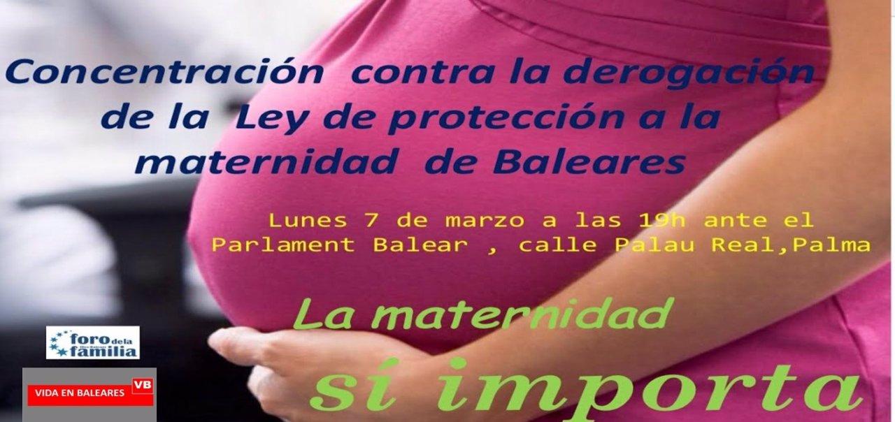 Concentración a favor de la maternidad