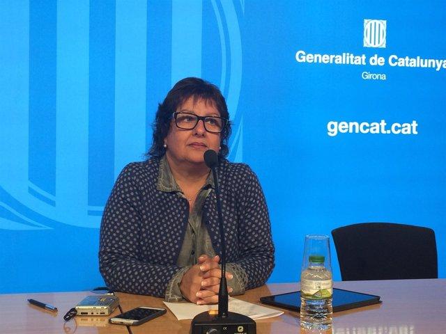 La consellera de Trabajo, Dolors Bassa, en Girona