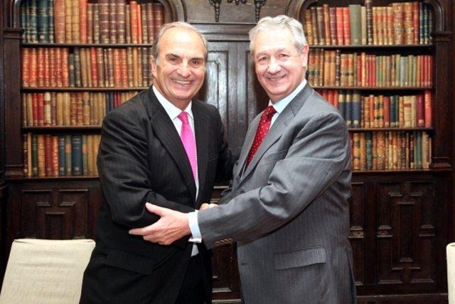 Joaquim Gay de Montellà (pte.Fomento del Trabajo) y Jorge Lasheras (pte Ceje)