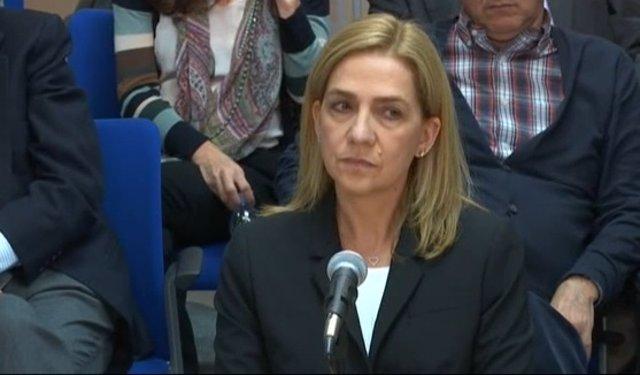 Infanta Cristina declara por el caso Nóos