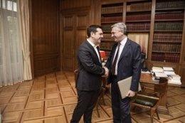 Alexis Tsipras y Filippo Grandi