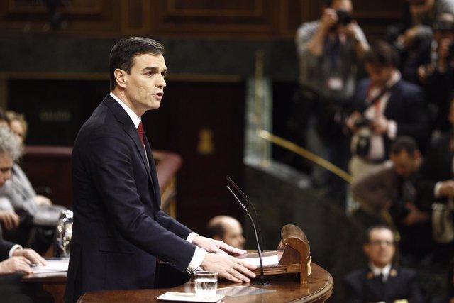 Pedro Sánchez en la segunda votación de investidura