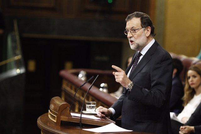 Mariano Rajoy en la segunda sesión de investidura de Sánchez