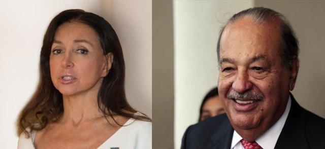 Carlos Slim y Esther Koplowitz.