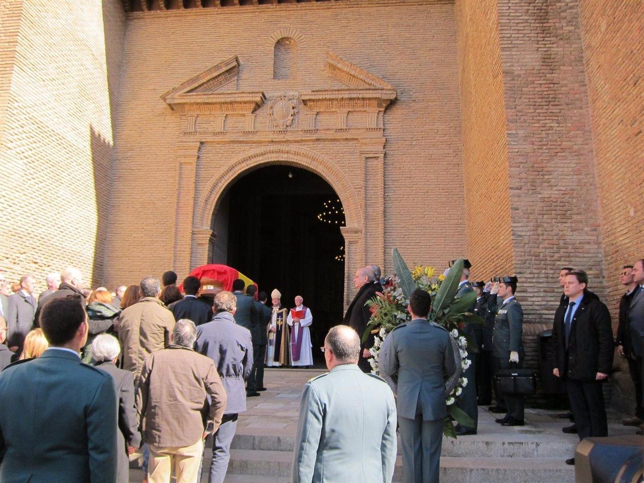 Funeral por el guardia civil arrollado en Barbastro