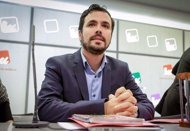 Alberto Garzón en el Consejo Político Federal de IU, Izquierda Unida