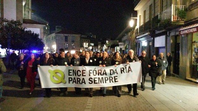 Manifestación anti Ence en Pontevedra