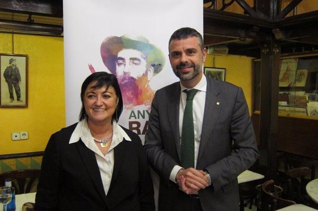 La comisaria V.Panyella y S.Vila