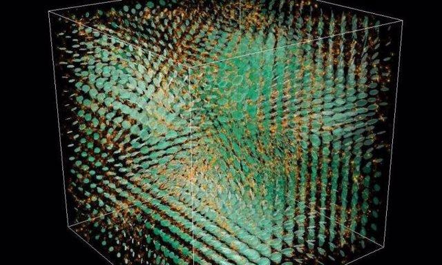 El modelo muestra las ondas gravitacionales durante la formación de estructuras