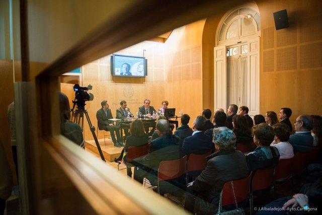Conferencia del expresidente de la Unesco, Federico Mayor Zaragoza