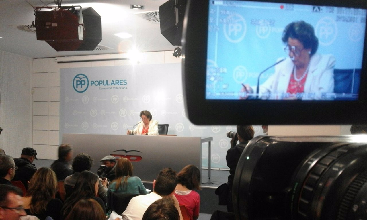 Rueda de prensa de Rita Barberá