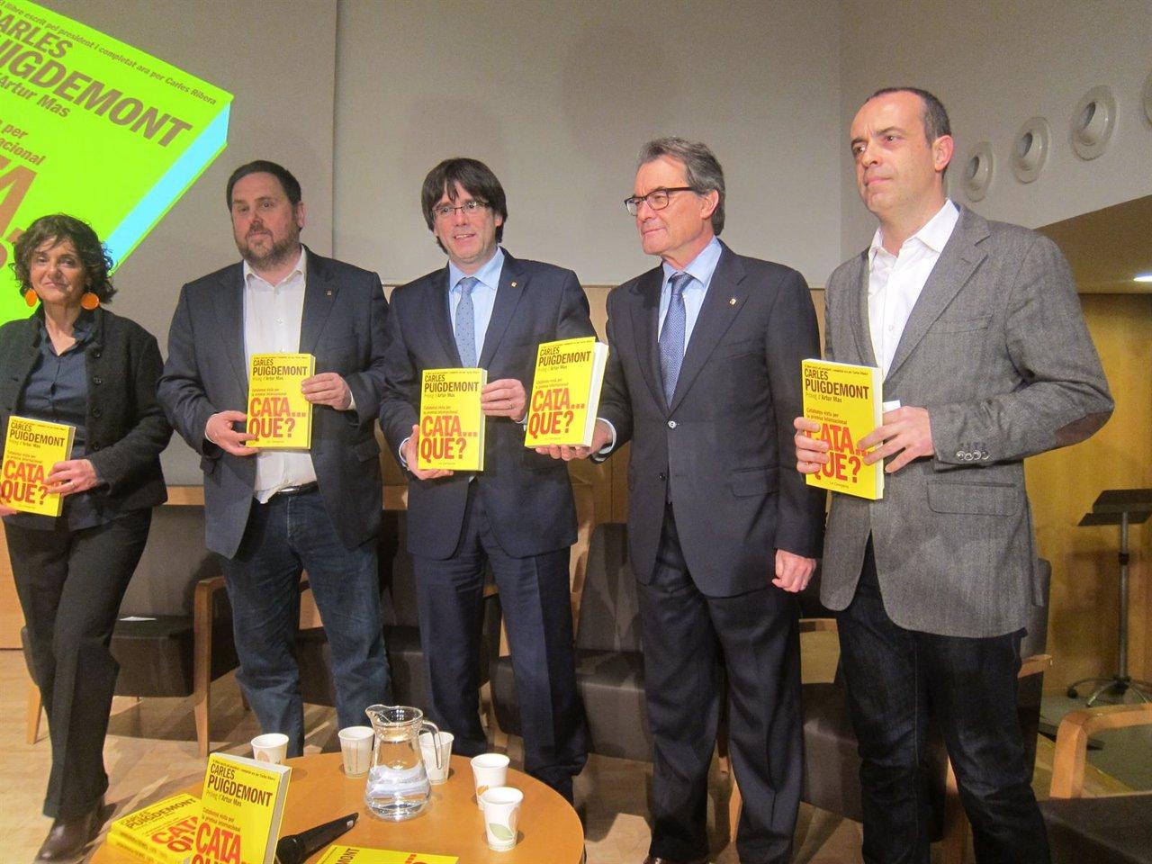 Oriol Junqueras, Carles Puigdemont, Artur Mas, Carles Ribera
