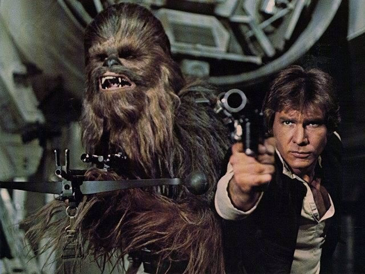 Chewbacca y Han Solo en Star Wars