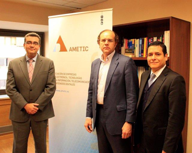 Antonio de Lucas, Alejandro Alonso y Gabriel López, Ametic