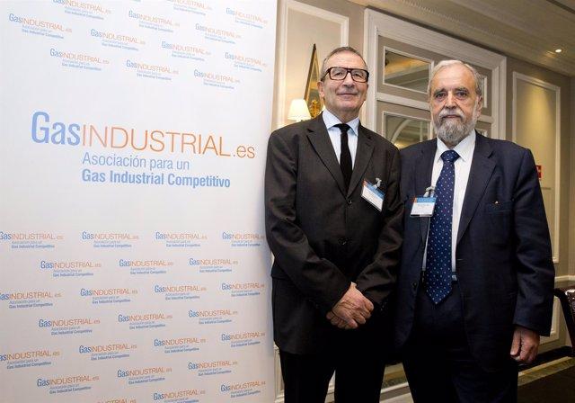 El presidente GasIndustrial y el presidente Mibgas