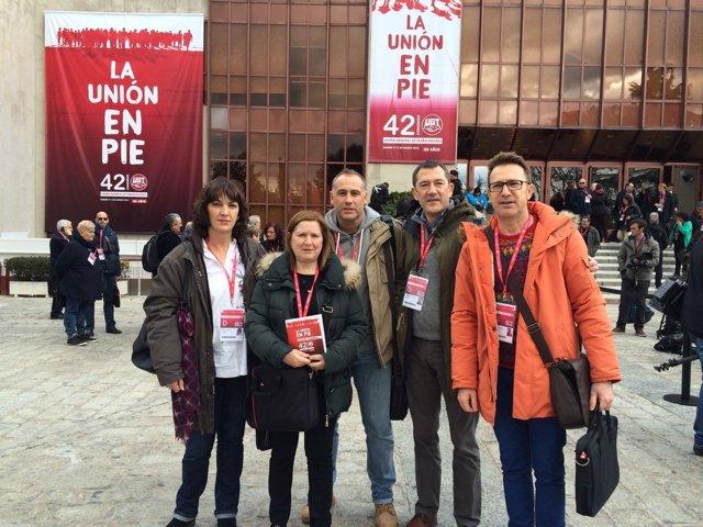 Delegados de UGT Navarra en el congreso confederal.