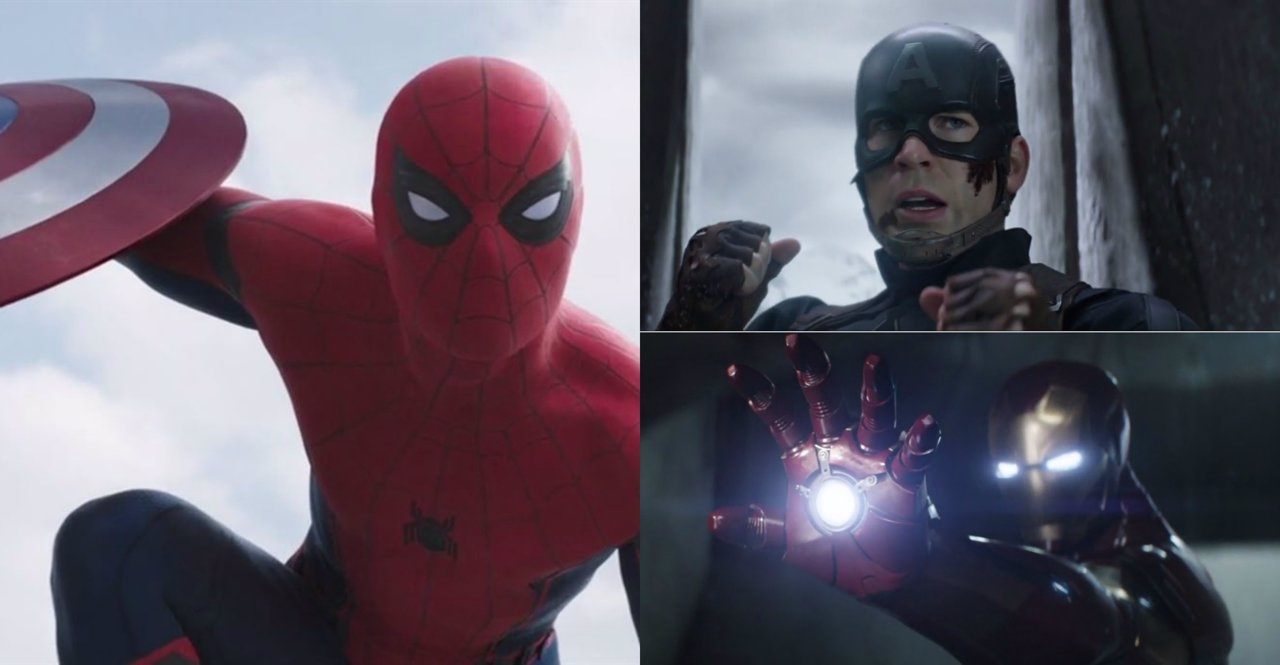 Spiderman, Capitán América y Iron Man en el nuevo trailer de Civil War