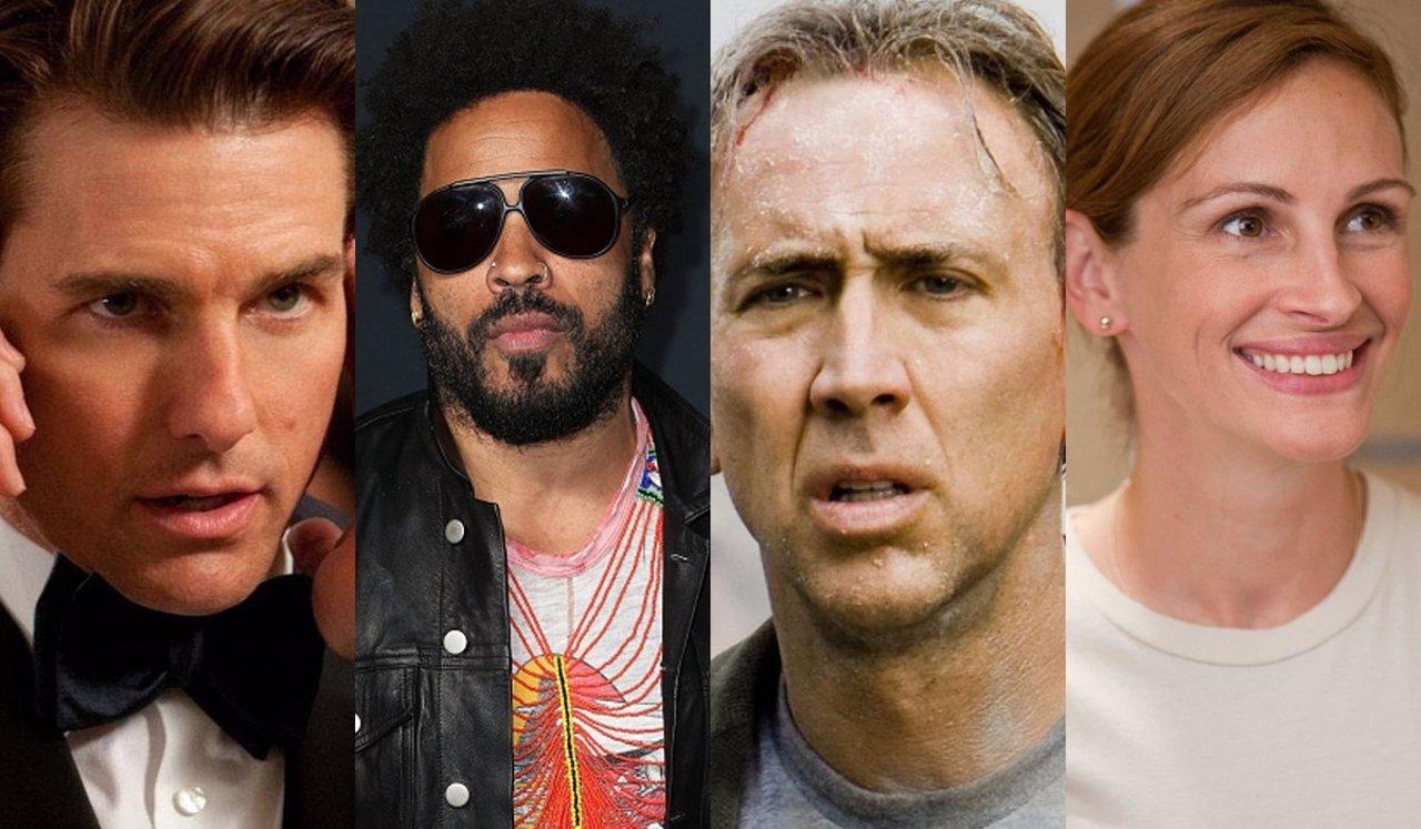 Tom Cruise, Lenny Kravitz, Nicolas Cage y Julia Roberts en 15 pares de estrellas