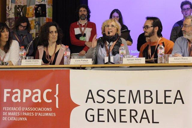 Montse Conejo, en la asamblea general de Fapac