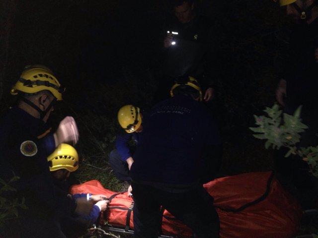Rescate de hombre accidentado en El Bosque (Cádiz)