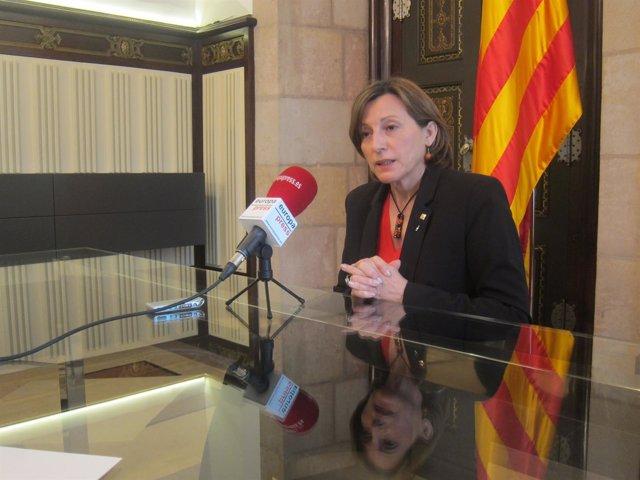 La presidenta del Parlament, Carmes Forcadell.