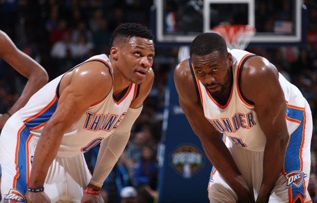 Serge IBaka y Russell Westbrook (Oklahoma City Thunder)