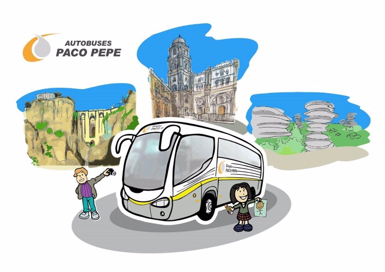 Concurso escolar de dibujo 'Diviértete en bus' Paco Pepe