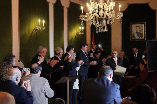 Valeriano Sánchez Ramos, nombrado académico el pasado mes de enero en Berja.