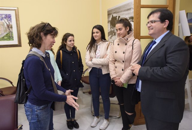 Cuatro alumnas del IES Mar de Pulpí visitan Filming Almería.