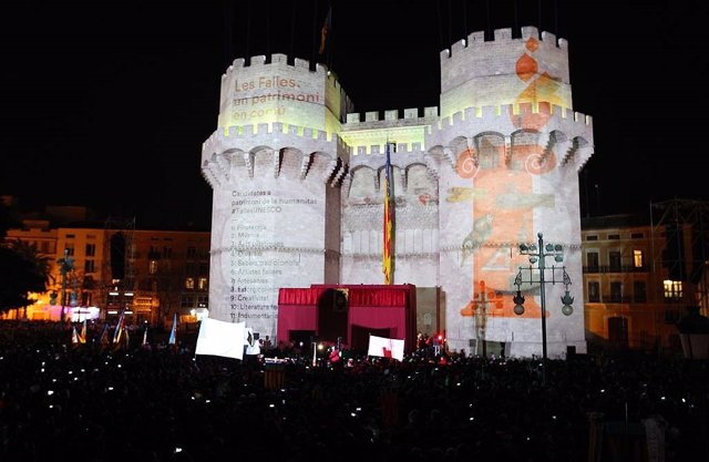 Imagen de la Crida con el mensaje a la Unesco